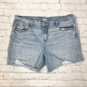 Old Navy Slim Midi Distressed Jean Shorts 5 inch